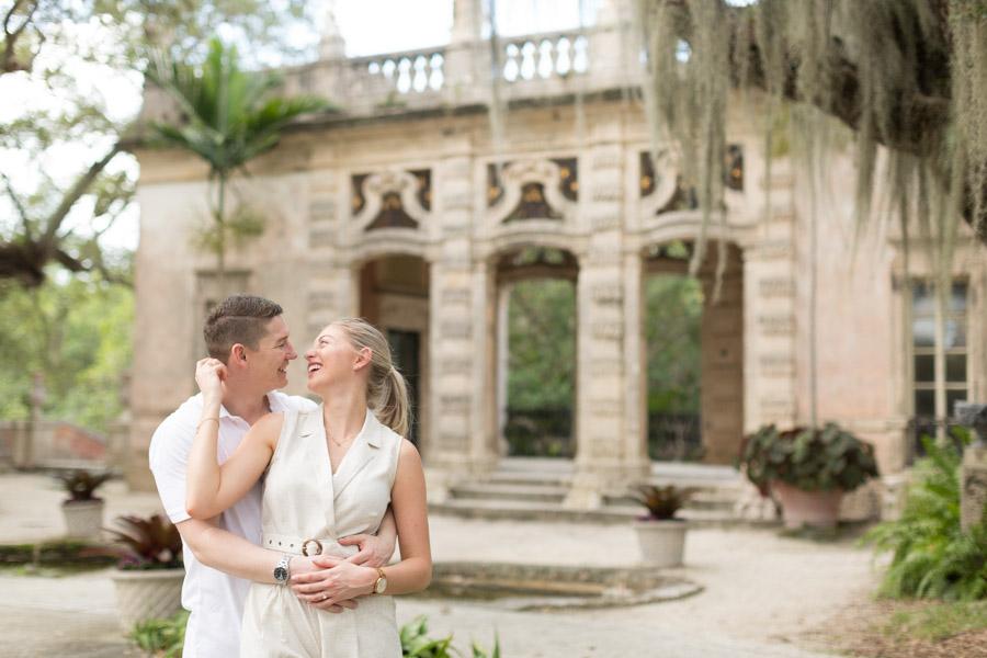 couple engagement at vizcaya
