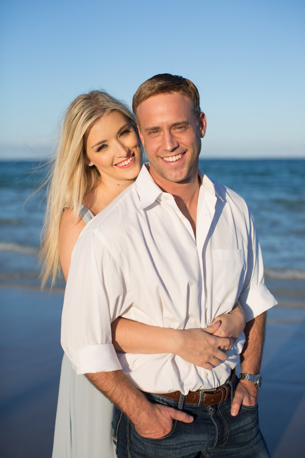 couple portrait on beach