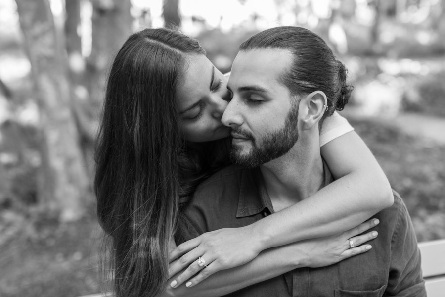 intimate black and white couple photo