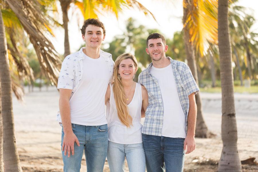 Sibling Photo Shoot at Crandon Park Key Biscayne