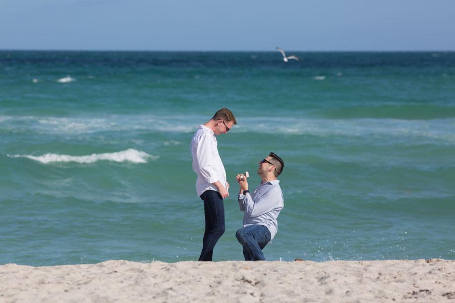 Miami Beach Surprise Proposal Photographer