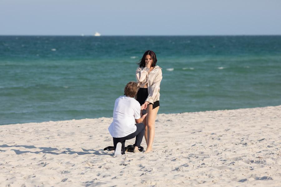 Romantic Beach Proposal in Miami